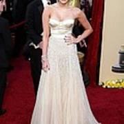 Miley Cyrus Wearing A Jenny Packham Print by Everett
