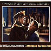 Miracle In The Rain, Van Johnson, Jane Print by Everett