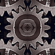 Mirror Gears Print by Steve Gadomski