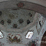 Mission San Xavier Del Bac - Vaulted Ceiling Detail Print by Suzanne Gaff