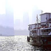 Mist Over Victoria Harbour Print by Enrique Rueda