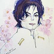 Mj In Sakura Print by Hitomi Osanai