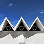 Modern Building Roofing Print by Eddy Joaquim