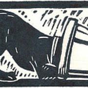 Molly Vs. Bucket Print by Jennifer Harper