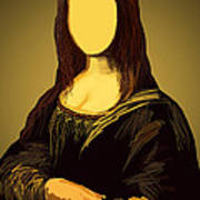Mona Lisa Print by Setsiri Silapasuwanchai