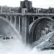Monroe St Bridge 2 - Spokane Washington Print by Daniel Hagerman