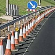 Motorway Traffic Cones Print by Linda Wright