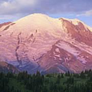 Mount Rainier At Sunrise Mount Rainier Print by Tim Fitzharris