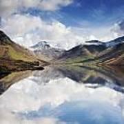 Mountains And Lake, Lake District Print by John Short