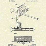 Mouth Organ 1876 Patent Art Print by Prior Art Design