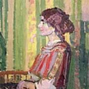 Mrs Robert Bevan Print by Harold Gilman