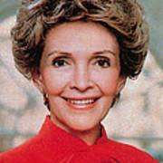 Nancy Reagan, 40th First Lady Print by Photo Researchers