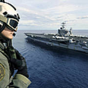 Naval Air Crewman Conducts A Visual Print by Stocktrek Images