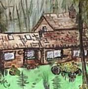 Neighbors Cabin Montana Print by Windy Mountain