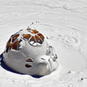 Nesting Mud Bubbles In Yellowstone's Artist Paint Pots Print by Bruce Gourley
