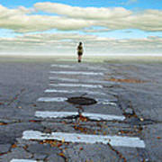 Never Ending Crosswalk Print by Jill Battaglia