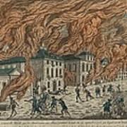 New York City Fire Of September 21-22 Print by Everett