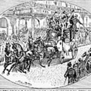 New York: Coaching, 1876 Print by Granger