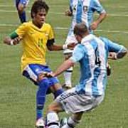 Neymar Doing His Thing IIi Print by Lee Dos Santos