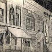 Noir Street Print by Mel Thompson