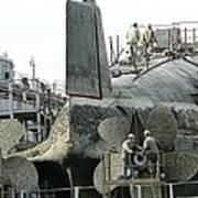 Nuclear Submarine Maintenance Print by Ria Novosti