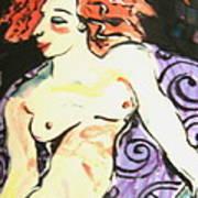 Nude Redhead Print by Patricia Lazar