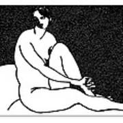 Nude Sketch 69 Print by Leonid Petrushin