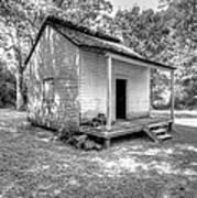 Oakley Plantation Slaves Quarters Print by Bourbon  Street