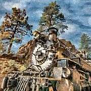 Of Mountain And Machine Print by Jeff Kolker