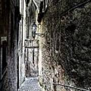 old alley in Italy Print by Joana Kruse