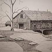 Old Barn Print by William Deering