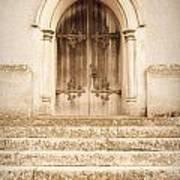 Old Church Door Print by Tom Gowanlock