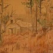 Old Farm Print by Carman Turner