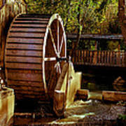Old Mill Park Wheel Print by Robert Bales