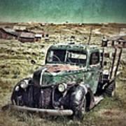 Old Rusty Truck Print by Jill Battaglia