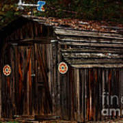 Old Shed Oakhurst Print by Marjorie Imbeau