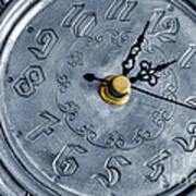 Old Silver Clock Print by Carlos Caetano