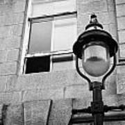 Old Sugg Gas Street Lights Converted To Run On Electric Lighting Aberdeen Scotland Uk Print by Joe Fox