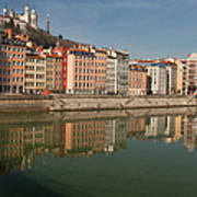 Old Town Of Lyon Print by Niall Sargent