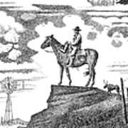 Old-west-art-cowboy Print by Gordon Punt