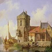 On The Rhine Print by Cornelius Springer
