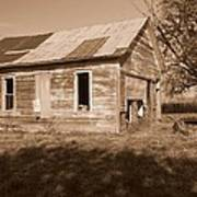 One Room School House Print by Rick Rauzi