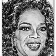 Oprah Winfrey In 2007 Print by J McCombie