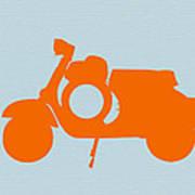 Orange Scooter Print by Naxart Studio