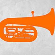 Orange Tuba Print by Naxart Studio