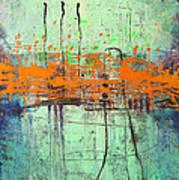 Orange Visitation Print by Lolita Bronzini