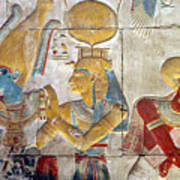 Osiris And Isis, Abydos Print by Joe & Clair Carnegie / Libyan Soup
