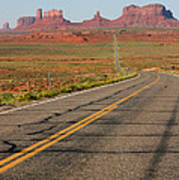 ouest USA route monument valley road Print by Audrey Campion