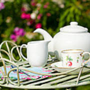 Outdoor Tea Party Print by Amanda And Christopher Elwell