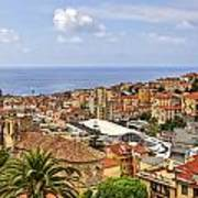 Over The Roofs Of Sanremo Print by Joana Kruse